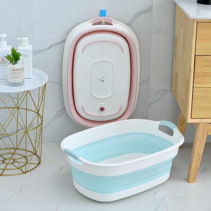 Portable Bathtub Collapsible Bathtub Folding Bath Basin Storage Box