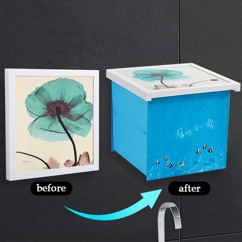 Collapsible Mural Storage Box Foldable Storage Cabinet