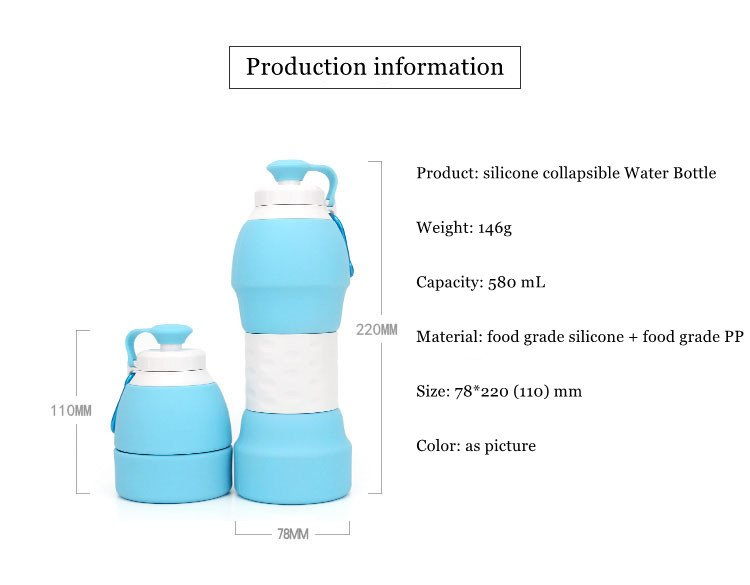 Collapsible Water Bottle Portable Telescopic Bottle Travel Sports Outdoor Water Bottle